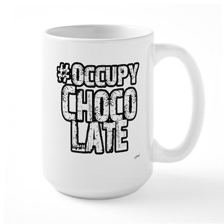 Occupy Chocolate Large Mug