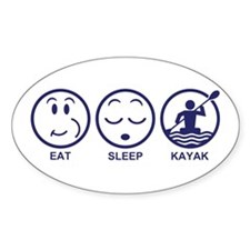 Eat Sleep Kayak Decal