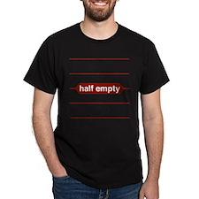 Half Empty Black T-Shirt