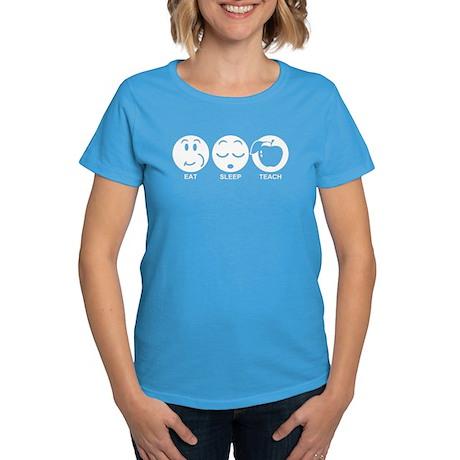 Eat Sleep Teach Women's Dark T-Shirt