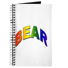 RAINBOW BEAR TEXT Journal