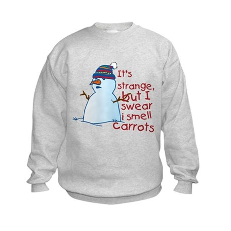 Smell Carrots Kids Sweatshirt