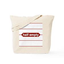 Half Empty Tote Bag
