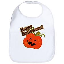 Funny Halloween Pumpkin Bib