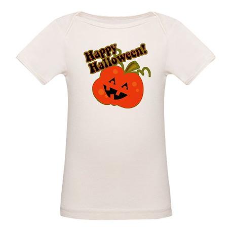 Funny Halloween Pumpkin Organic Baby T-Shirt