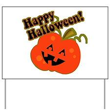 Funny Halloween Pumpkin Yard Sign
