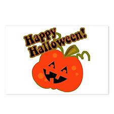 Funny Halloween Pumpkin Postcards (Package of 8)