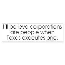 Texas Executes STT Bumper Bumper Sticker