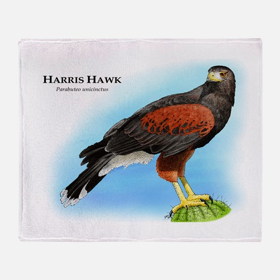 Harris Hawk Throw Blanket