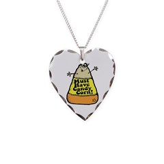 Funny Halloween Candy Corn Necklace
