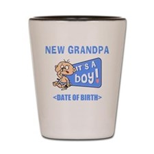 New Grandpa It's A Boy Personalized Shot Glass