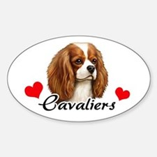 Love Cavaliers Sticker (Oval)