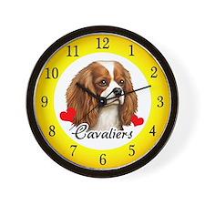Love Cavaliers Wall Clock