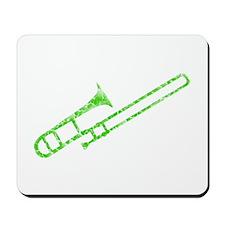 Worn, Green Trombone Mousepad