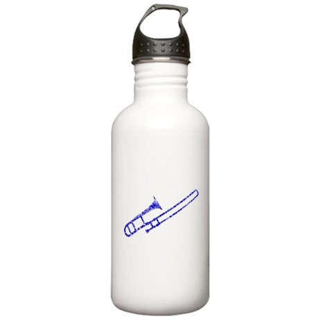 Worn, Blue Trombone Stainless Water Bottle 1.0L