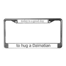 Hug a Dalmatian License Plate Frame