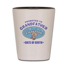 Personalized New Grandfather Grandson Shot Glass