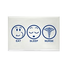 Eat Sleep Nurse Rectangle Magnet