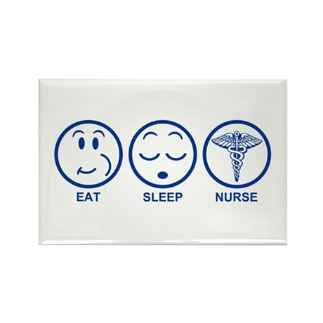Eat Sleep Nurse Rectangle Magnet