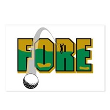 Fore Golf Postcards (Package of 8)
