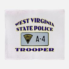 West Virginia State Police Throw Blanket