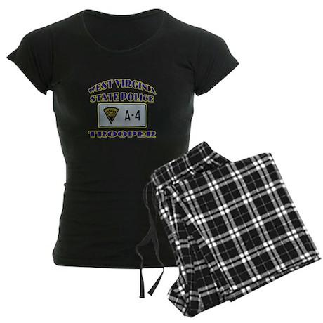 West Virginia State Police Women's Dark Pajamas