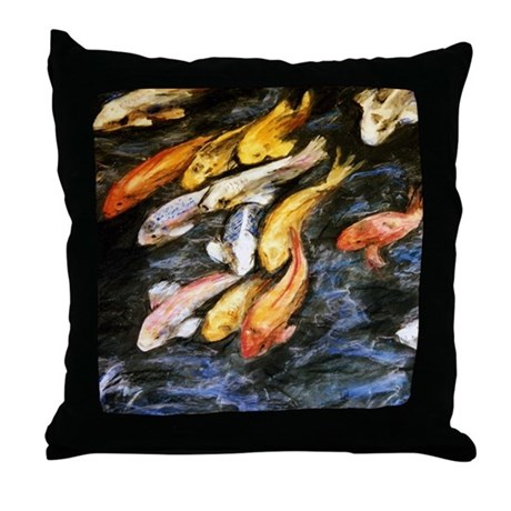 Koi fish throw pillow by donnabellas for Koi fish pillow