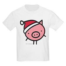 Cute Santa Pig T-Shirt
