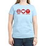 Peace Love Medicine Women's Light T-Shirt