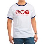 Peace Love Medicine Ringer T