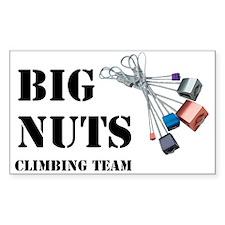 BIG NUTS Climbing Team Rectangle Decal