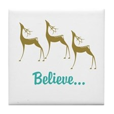 Believe in Santa Claus Tile Coaster