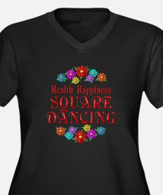 Square Dancing Happiness Women's Plus Size V-Neck