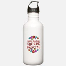 Square Dancing Happiness Water Bottle