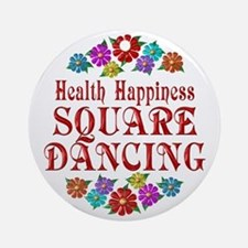 Square Dancing Happiness Ornament (Round)