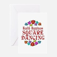 Square Dancing Happiness Greeting Card
