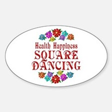 Square Dancing Happiness Decal