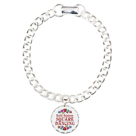 Square Dancing Happiness Charm Bracelet, One Charm