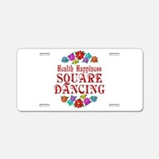 Square Dancing Happiness Aluminum License Plate