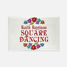 Square Dancing Happiness Rectangle Magnet