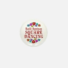 Square Dancing Happiness Mini Button (10 pack)