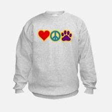 Cute Peace love dog Sweatshirt