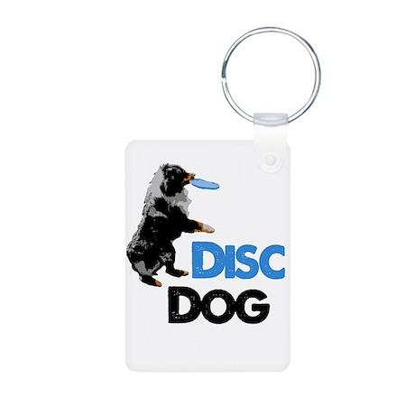 Disc Dog Aluminum Photo Keychain