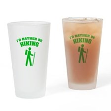 I'd rather be Hiking Drinking Glass