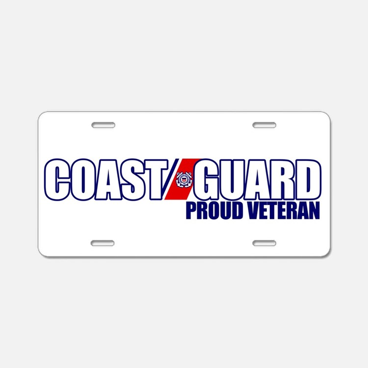 USCG Veteran Aluminum License Plate