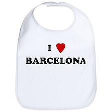 I Love Barcelona Bib