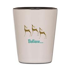 Believe in Santa Claus Shot Glass