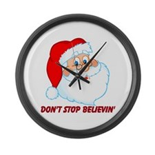 Don't Stop Believin' Large Wall Clock