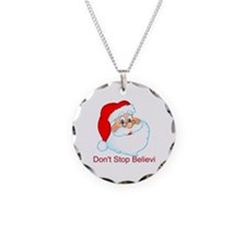 Don't Stop Believin' Necklace Circle Charm