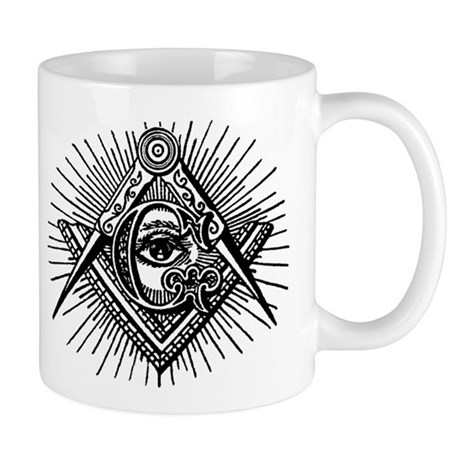 Masonic Eye Coffee Mug (Left hand)